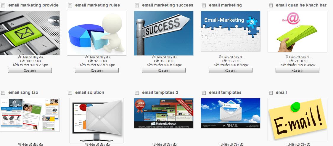 Quản lý ảnh nhúng trong email HTML