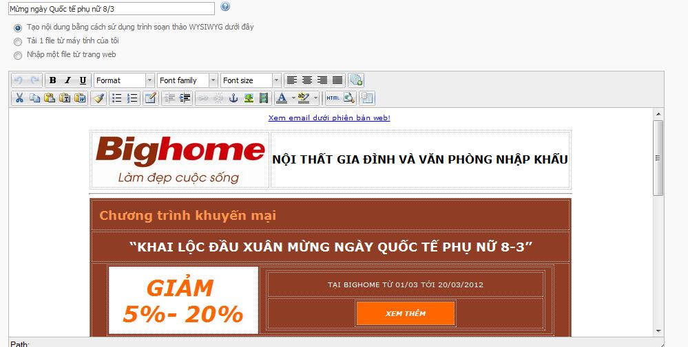 Xem thử email trước khi gửi đi