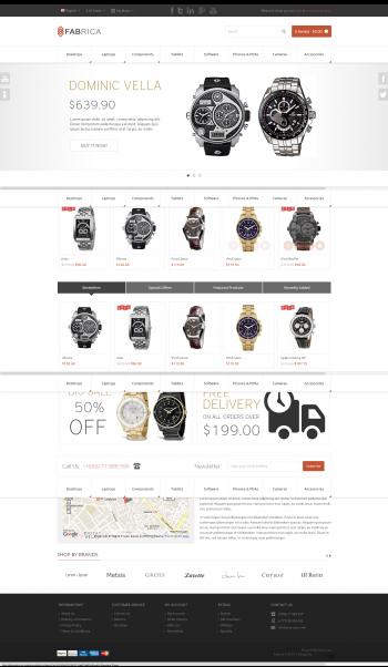 Mẫu web bán đồng hồ fabrica