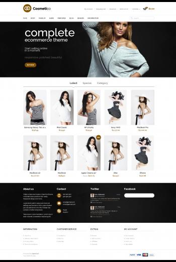 Mẫu web bán hàng thời trang Complete