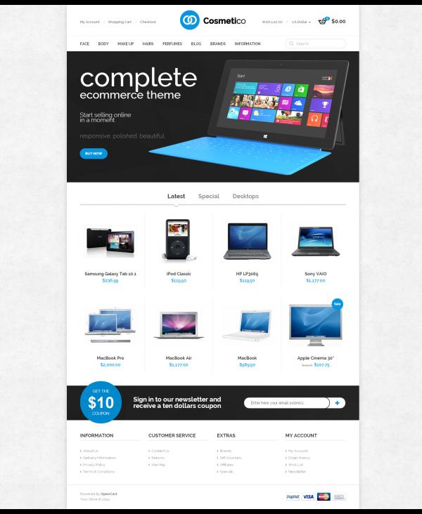 Mẫu web bán hàng điện tử Cosmet