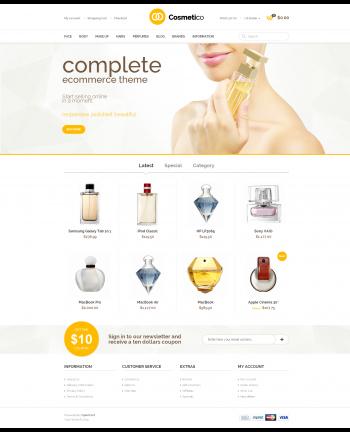 Mẫu web shop mỹ phẩm