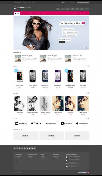Mẫu web bán hàng Fortis