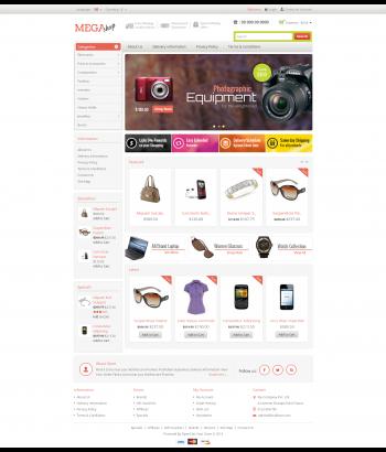 Mẫu web bán hàng Mega Shop