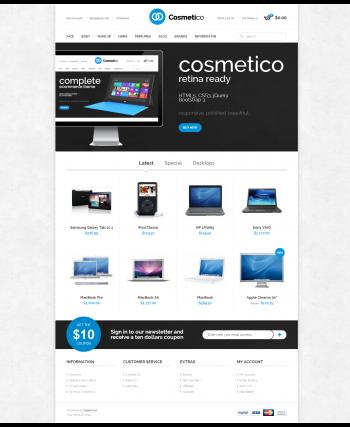 Web bán hàng Cosmetico