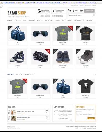 Mẫu web bán hàng Bazarshop