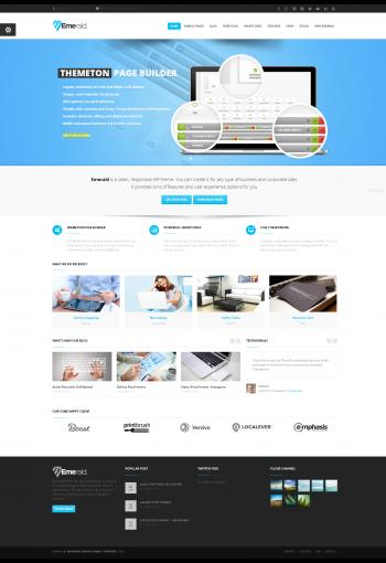Mẫu web giới thiệu công ty Emareld