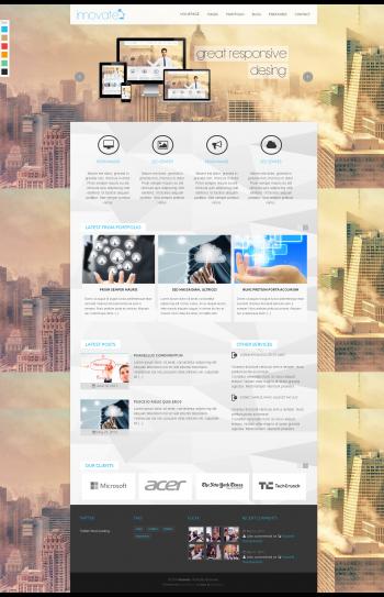 Mẫu web giới thiệu công ty Innovate