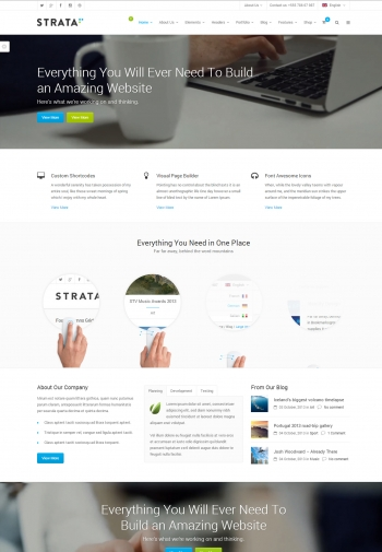 Web giới thiệu công ty Strata