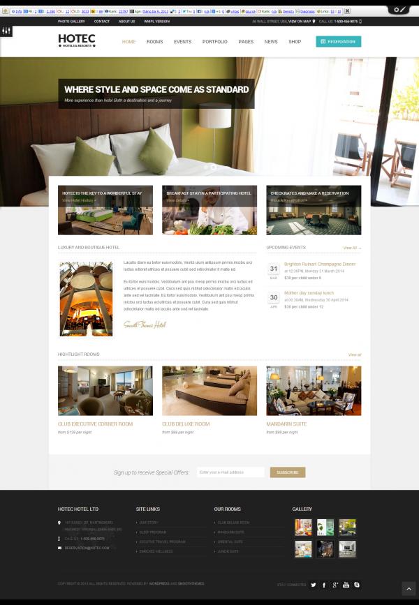 Mẫu website khách sạn chuyên nghiệp Hotec