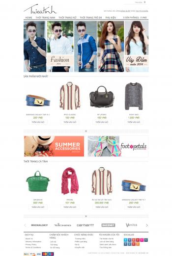 Web thời trang online Pure