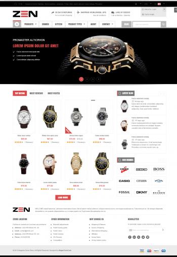Thiết kế web bán đồng hồ zen