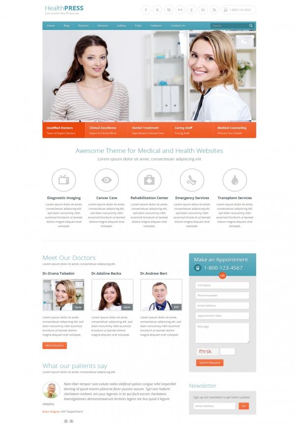 Web giới thiệu công ty HealthPress