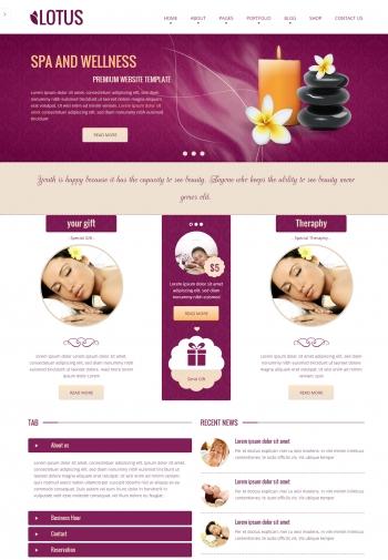 Web giới thiệu công ty Lotus Spa