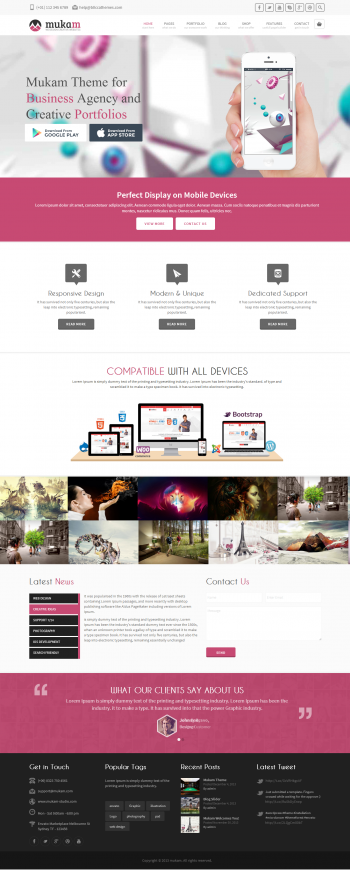 Mẫu web marketing kết hợp bán hàng MuKam
