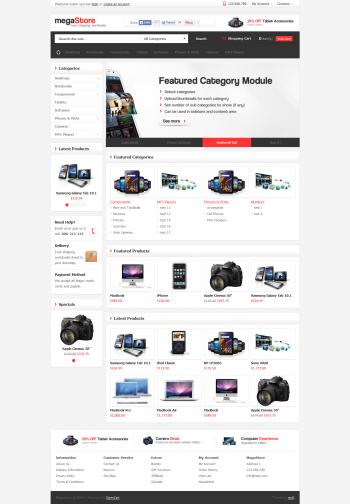 Mẫu web bán hàng MegaStore