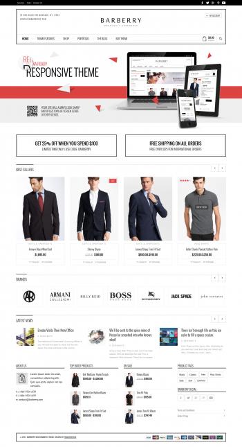 Mẫu web bán hàng Barberry
