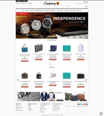 Mẫu web bán hàng Company