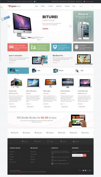 Mẫu web bán hàng điện tử Digital