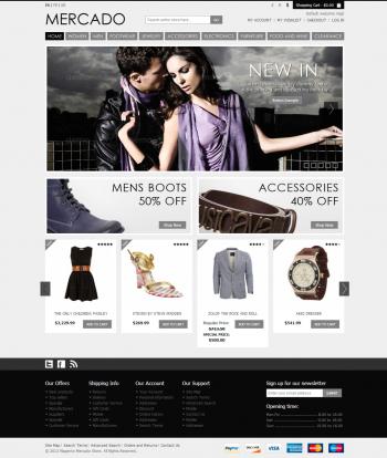 Mẫu web bán hàng thời trang chuyên nghiệp Mercado