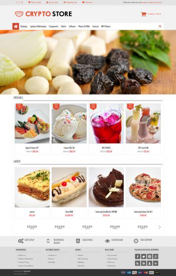 Mẫu web bán hàng thực phẩm Crypto Food