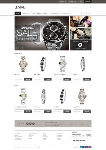 Mẫu web đồng hồ Leisure
