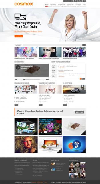 Mẫu web giới thiệu công ty Cosmox
