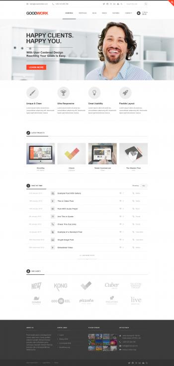 Mẫu web giới thiệu công ty kết hợp bán hàng Goodword