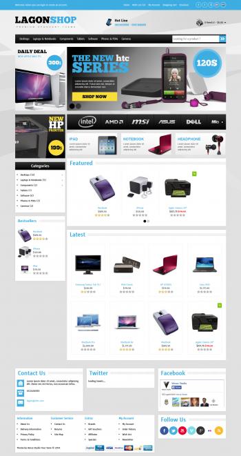 Mẫu web bán hàng LagonShop