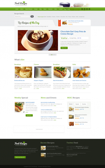 Mẫu website ẩm thực Food