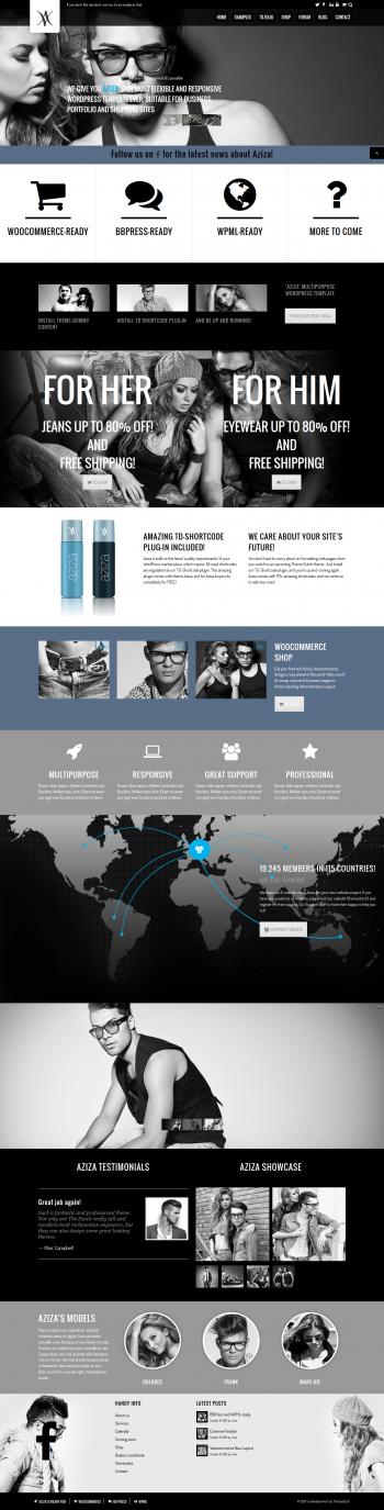 Mẫu web thời trang Aziza