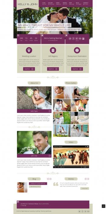 Thiết kế web áo cưới Kelly