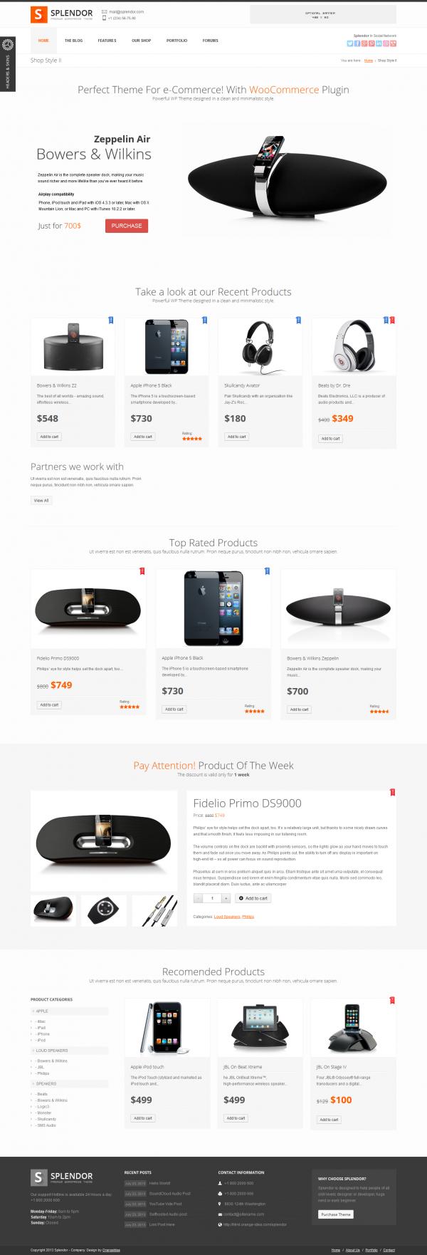 Thiết kế web bán điện thoại di động Splendor