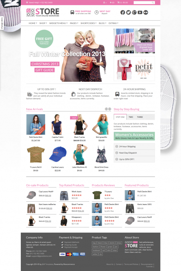 Thiết kế web bán hàng thời trang Store