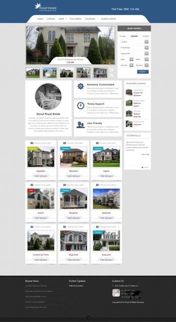 Thiết kế web bất động sản giá rẻ Royal