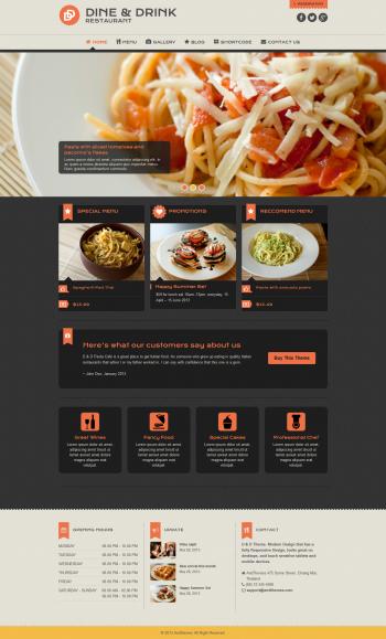 Thiết kế website cho nhà hàng Dine