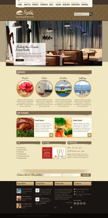Thiết kế web cho nhà hàng Dt