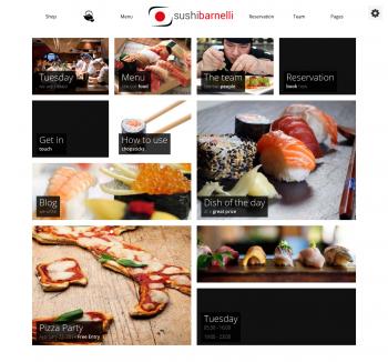 Thiết kế web cho nhà hàng Sushi