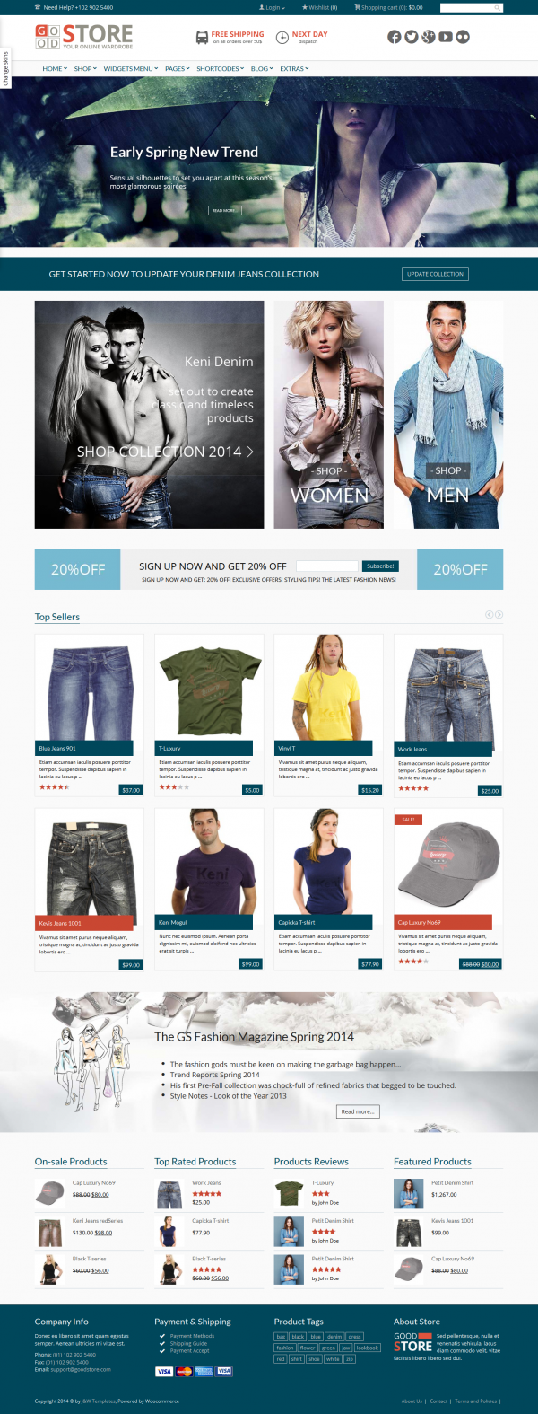 Thiết kế web thời trang GoodStore