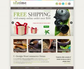Thiết kế web bán hàng trà – cà phê Teatime