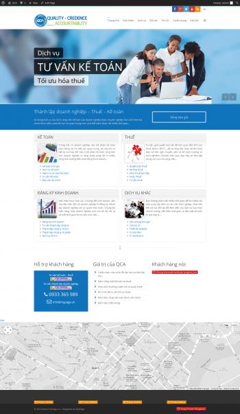 Thiết kế web giới thiệu công ty dịch vụ thuế QCA