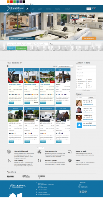 Thiết kế web rao vặt bất động sản Estate