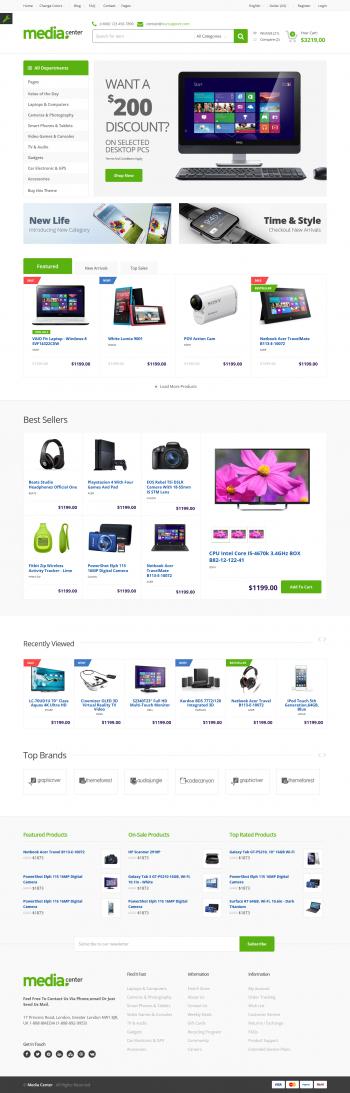 Thiết kế web thương mại điện tử Media Center