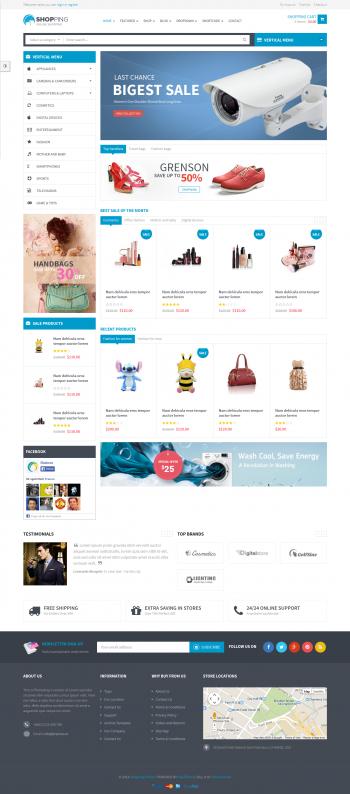 Thiết kế web thương mại điện tử Shopping