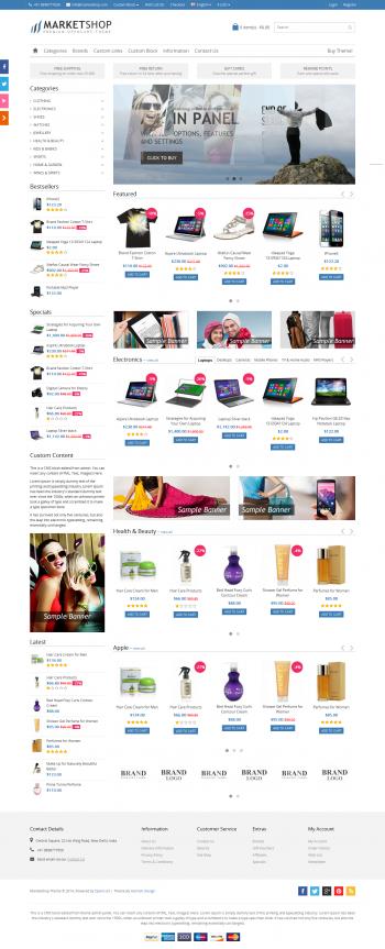 Mẫu thiết kế web bán hàng Marketshop