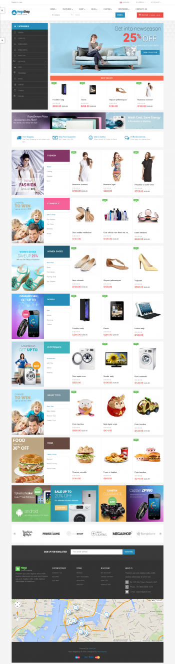 Mẫu thiết kế web bán hàng MegaShop