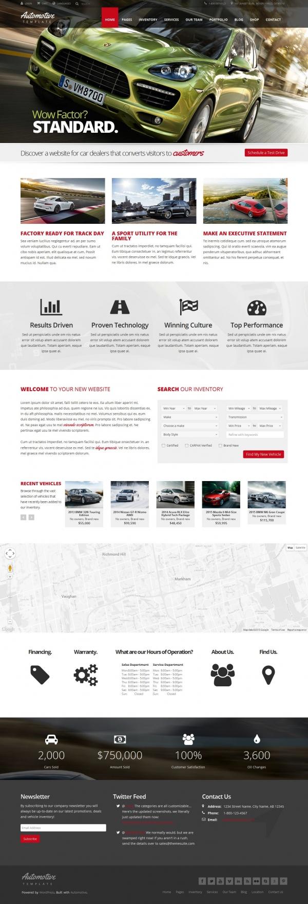 Mẫu web bán oto chuyên nghiệp Auto