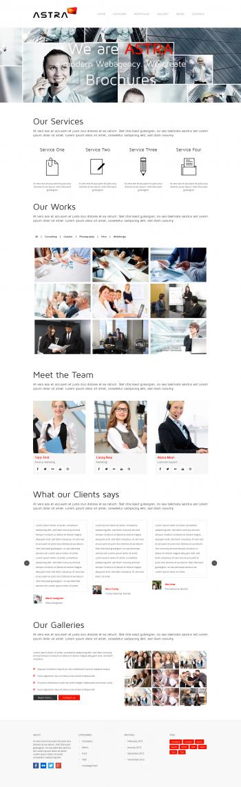 Thiết kế website giới thiệu công ty Astra