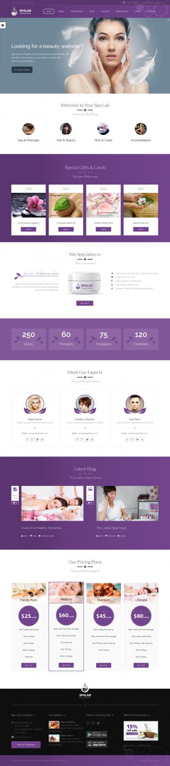 Thiết kế website thẩm mỹ viện Spa Spalab