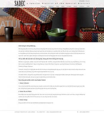 Mẫu website giới thiệu sản phẩm sang trọng chuyên nghiệp